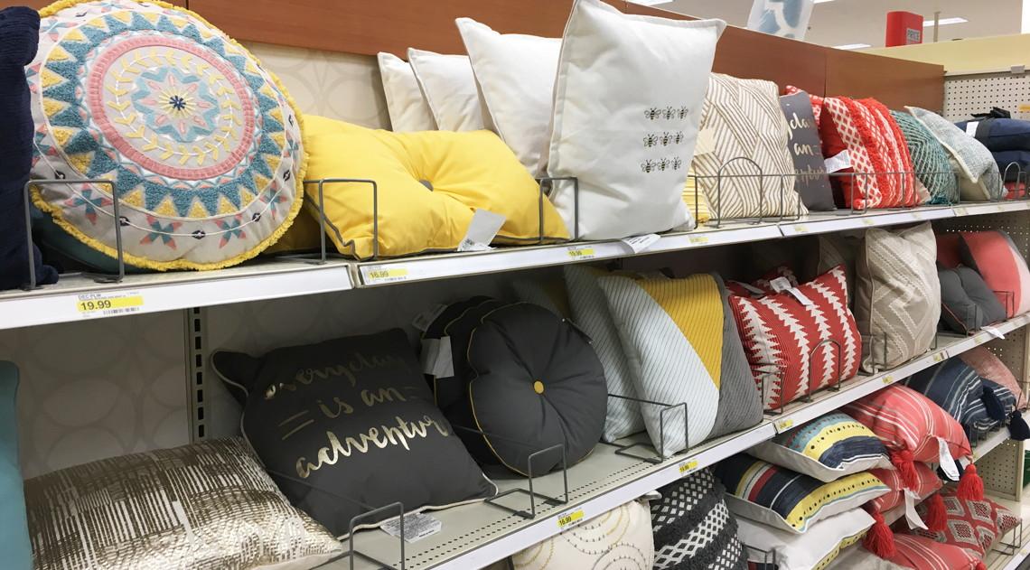 Throw pillows at target