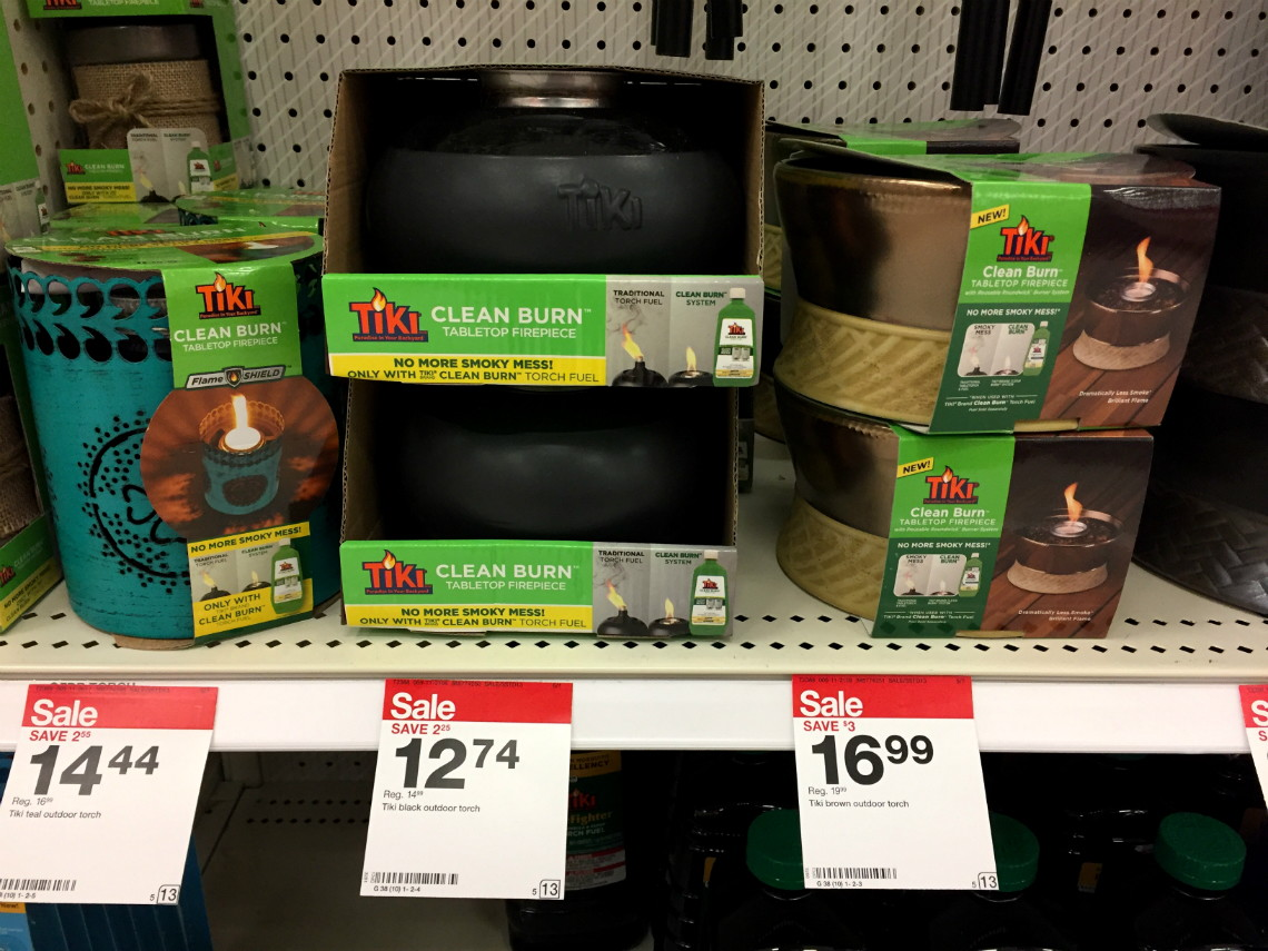 Tiki Clean Burn Tabletop Firepiece, Only $3.05 at Target!