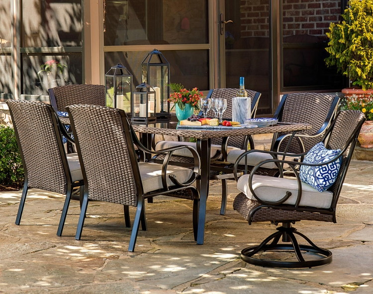 or la z boy outdoor kinsley 7 pc dining set sand reg 119999 79999 use code 10sears to save 10 on patio furniture