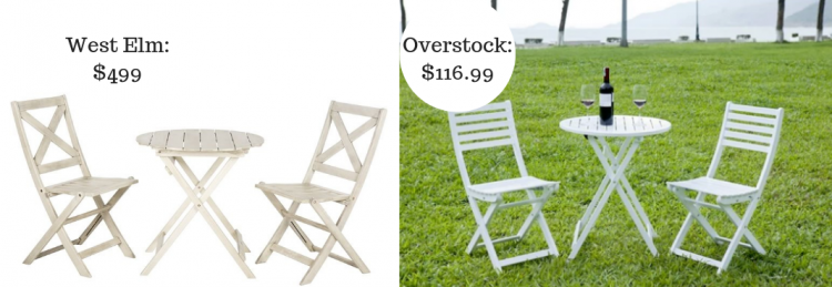1. Save $382.01 On Your Outdoor Bistro Set.