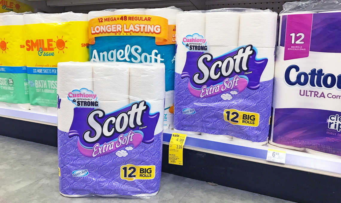 Scott Extra Soft Toilet Paper, Only $0.23 per Roll at Walgreens ...