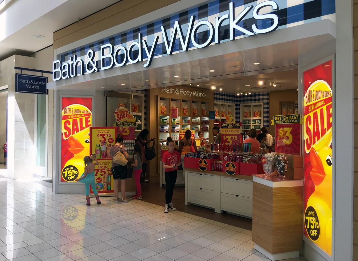 All About Bath and Body Works Bath and Body Works offers great deals on a variety of body care items including body washes, body creams, shower gels, select hand soaps, skin care items and aromatic products such as 3-wick candles, fragrance mists and room sprays.