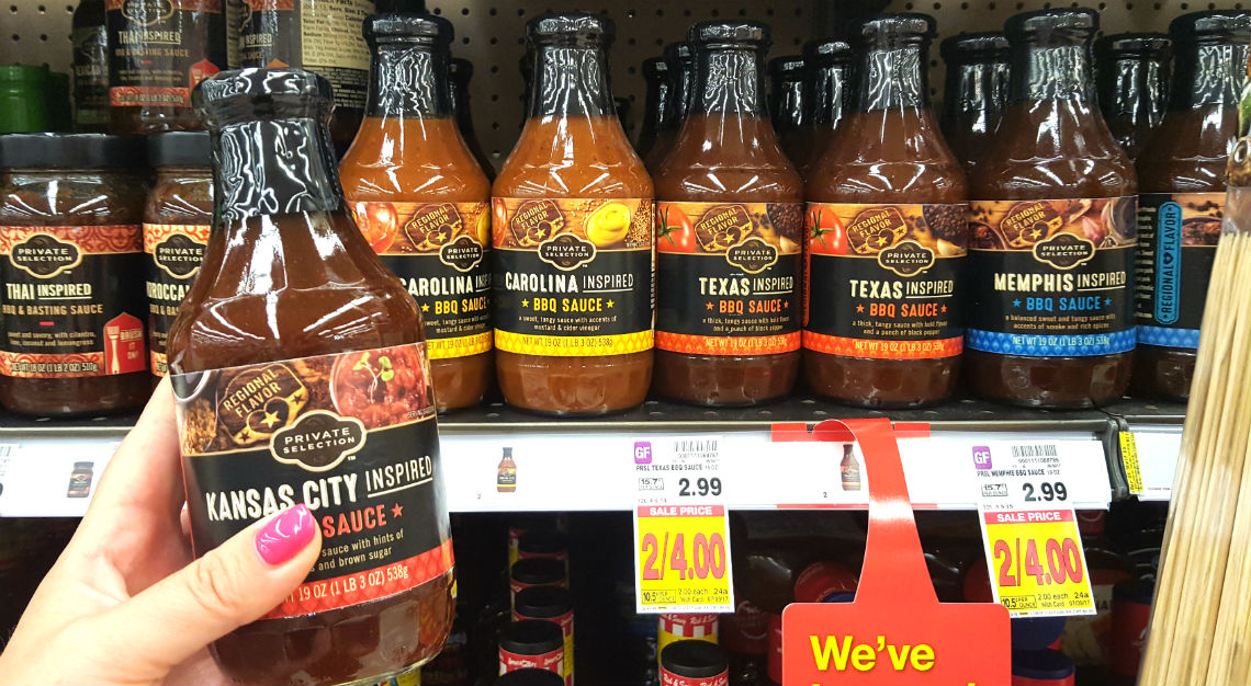 Barbecue Sauce For Sale Part - 29: Free Private Selection Regional BBQ Sauce At Kroger! - The Krazy Coupon Lady