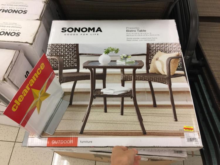 Sonoma Presidio Bistro Table