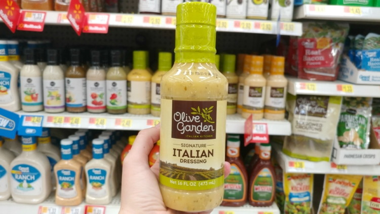 Buy Olive Garden Dressing In Grocery Stores.