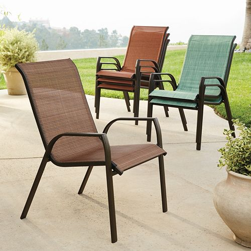 1 Sonoma Goods For Life Coronado Stackable Sling Patio Chair 4 Pc Set Reg 319 99 119 Receive 10 00 Kohl S Cash Every 50 Spent After
