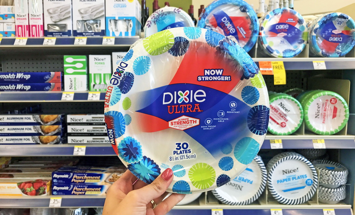 dixie paper plates as low as 1 10 at walgreens the krazy