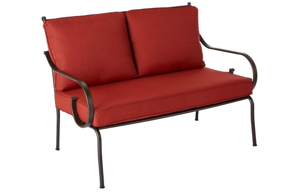 Buy 1 Hampton Bay Middletown Patio Loveseat With Chili Cushions ( Reg  $279.00 ) $69.75, Clearance Price