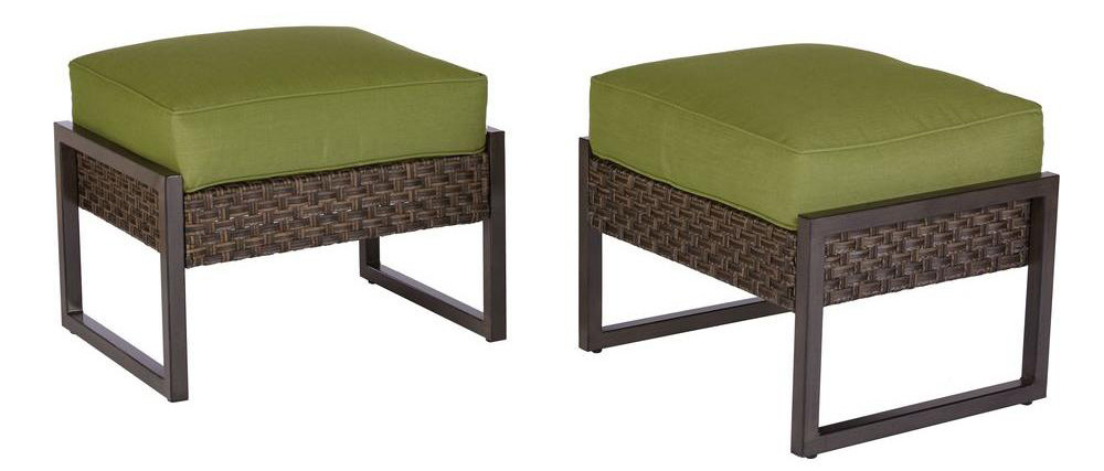 Buy 1 Hampton Bay Carol Stream Metal And Woven Patio Ottomans With  Cushions, 2 Pk ( Reg $399.00 ) $99.75, Clearance Price