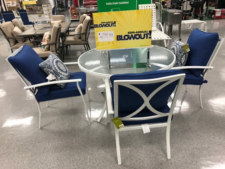 Amazing Or Garden Oasis Harrison 5 Piece Cushion Dining Set U2013 Blue (reg. $599.99)  $239.99. Use Code 15SPU To Get 15% Off Outdoor Living When ...