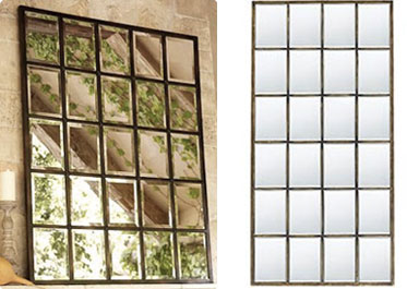 I Ve Absolutely Fallen In Love With Pottery Barn S Eagan Multipanel Large Mirror Its 25 Beveled Mirrors Measuring 44 X 55 Would Look Amazing On That