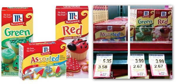 McCormick Food Coloring, As Low As $1.67 at Harris Teeter ...