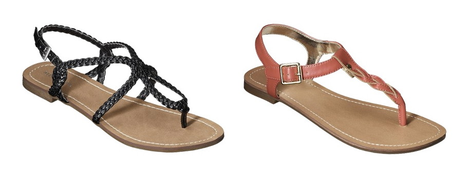 "64686503c272 Get a pair of cute Merona sandals for under six dollars! The ""Emily"" and  ""Erin"" styles are marked down to  12.00 this week."