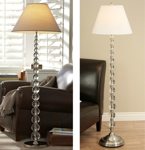 Knockout Knockoffs: Pottery Barn Stacked Crystal Floor Lamp.