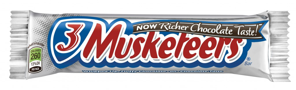 Three musketeers candy bar - 8th favorite candy bar