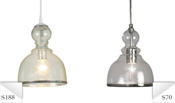 Knockout knockoffs seeded glass pendant light aloadofball Images
