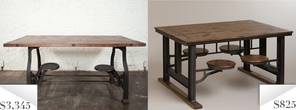 Knockout Knockoffs Cafeteria Style Dining Table
