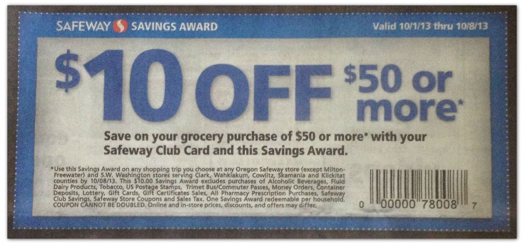 photograph regarding Safeway Printable Coupons titled Refreshing Safeway Coupon$10.00 off $50.00 Get! - The Krazy