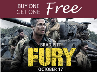 FURY Movie Ticket