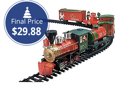 north pole express christmas train set 2988 at home depot the krazy coupon lady - Train Set For Christmas Tree