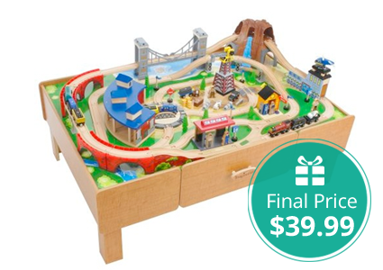 Nice Imaginarium Train Set With Table, Only $39.99!
