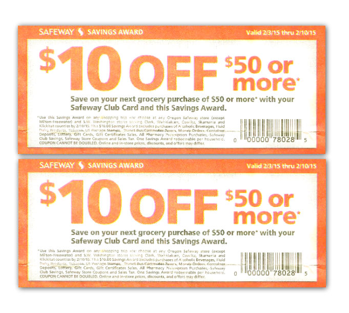 photograph about Safeway Printable Coupons referred to as Fresh Safeway Coupon: $10.00 Off $50.00 Buy! - The Krazy