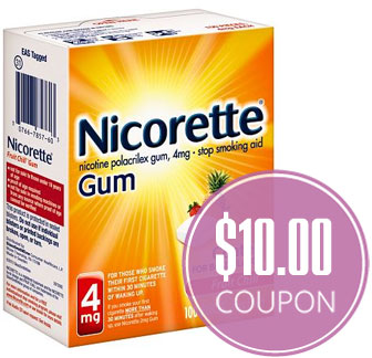 photograph regarding Nicorette Printable Coupon named $10.00 Nicorette and NicoDerm CQ Coupon! - The Krazy Coupon Female