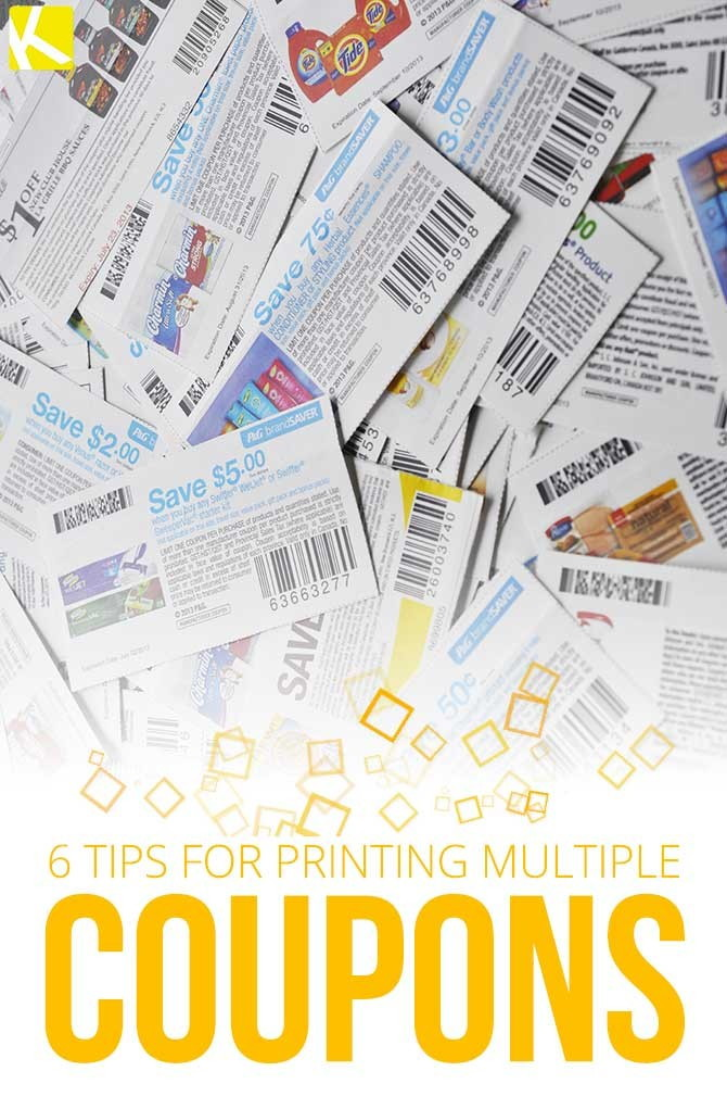 6 Tips for Printing Multiple Coupons - The Krazy Coupon Lady
