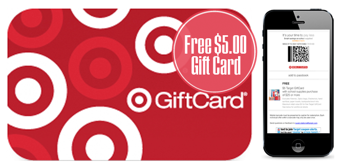Free $5.00 Target Gift Card with School Supply Purchase!