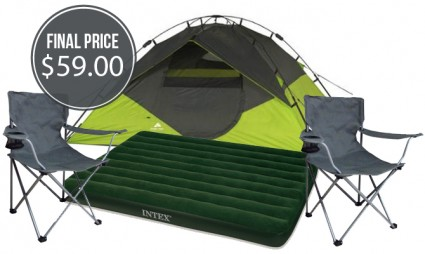 Ozark Trail Tent, Chairs & Airbed Bundle, Only $59 00! - The Krazy