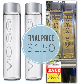Voss Artesian Sparkling Water, $1 50 at Whole Foods! - The Krazy