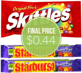 Skittles or Starburst Candies, Only $0 44 at Rite Aid! - The Krazy