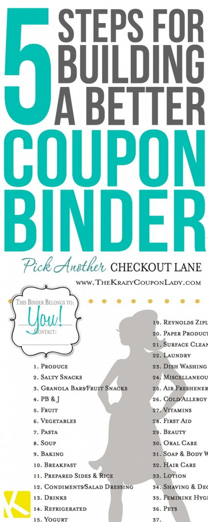 graphic relating to Coupon Binder Printable known as 5 Uncomplicated Measures in direction of Develop and Keep Your Coupon Binder - The