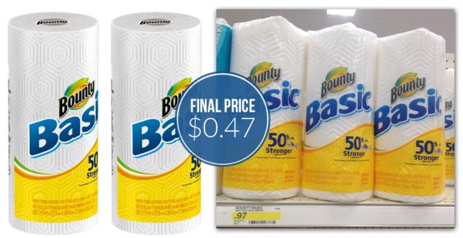 Bounty Paper Towels 47¢ at Ta...