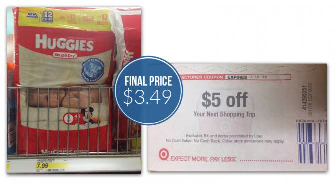 Huggies Diapers, $3.49 at Targ...