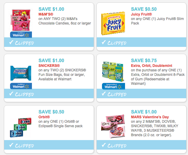 photograph relating to Printable Candy Coupons identified as Best 6 Printable Discount coupons for Sweet and Gum! - The Krazy