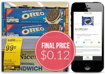 Oreo Cookies 12¢ at Walgreens...