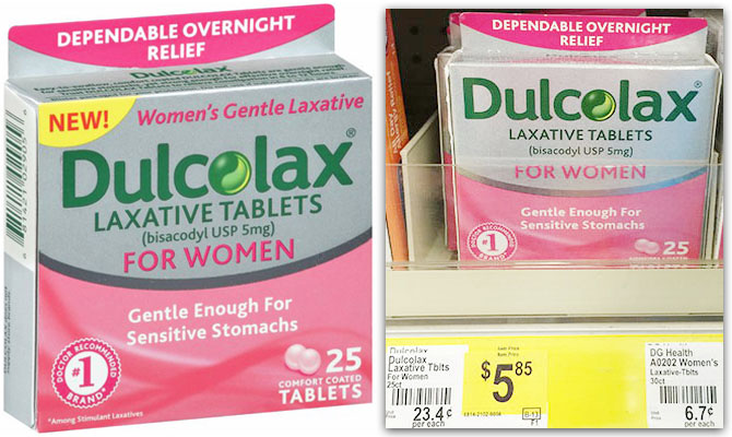 Dulcolax Only $2.85 at Dollar.