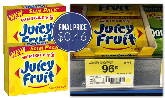 Juicy Fruit Slim Pack - $0.46.
