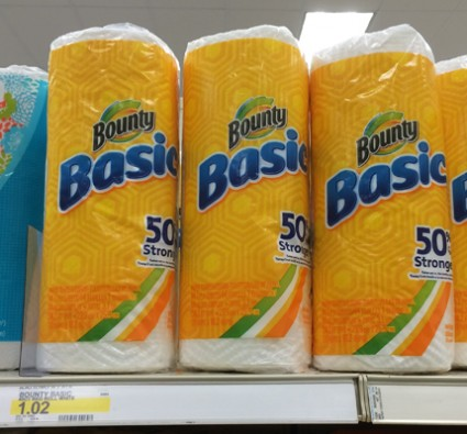 Bounty Paper Towels 27¢ at Ta...