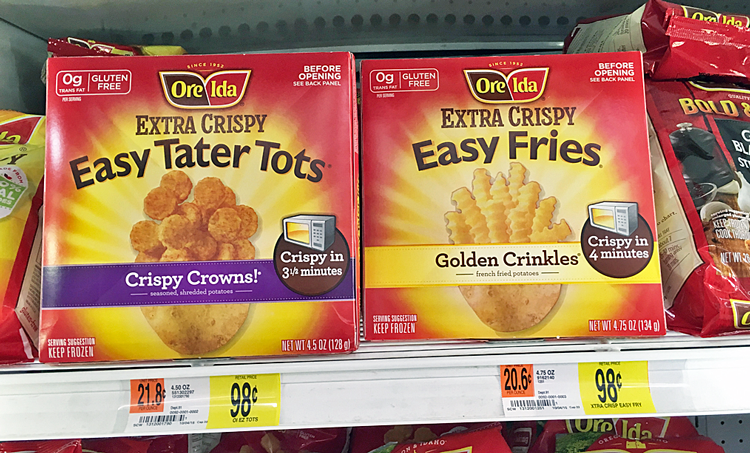 Ore-Ida French Fries or Tater Tots