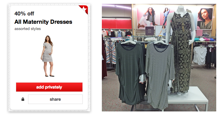 0f646691319 New Cartwheel  40% Off Maternity Dresses at Target! - The Krazy Coupon Lady