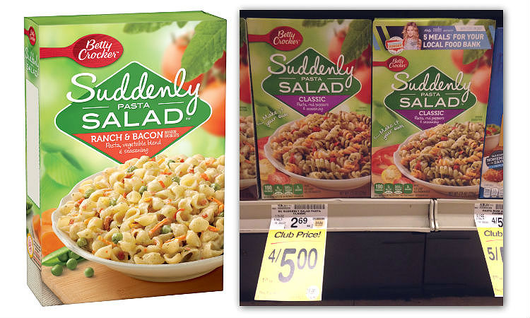 Betty Crocker Suddenly Salad Mix, as Low as $0 75 at Safeway