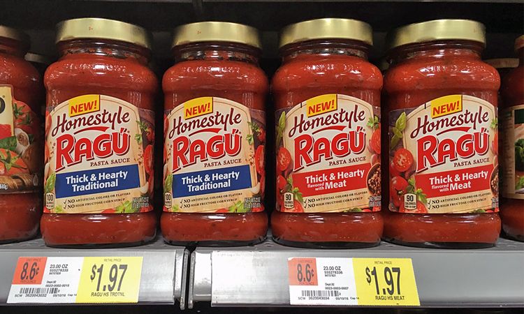 Ragu Homestyle Pasta Sauce, Only $0.47 at Walmart!