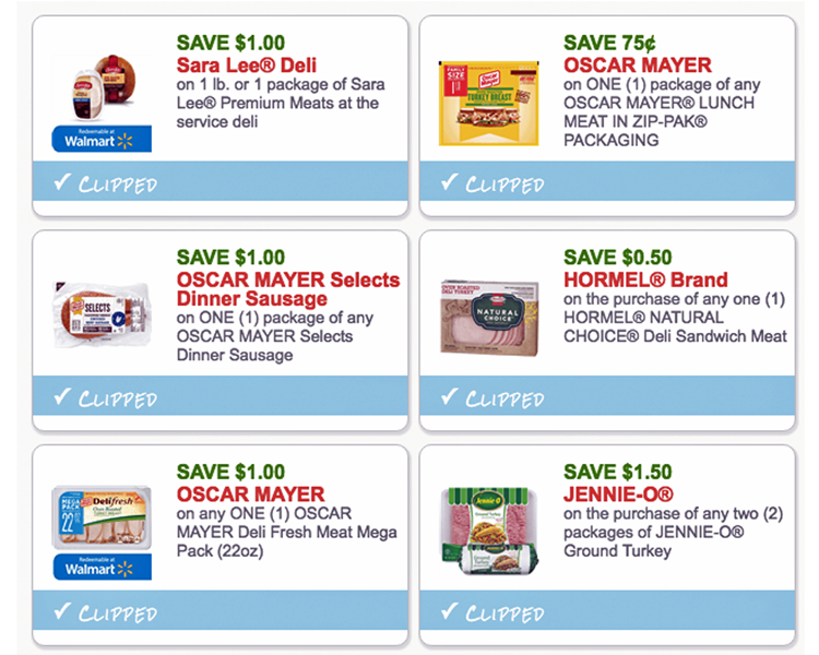 High-Value Meat Coupons...