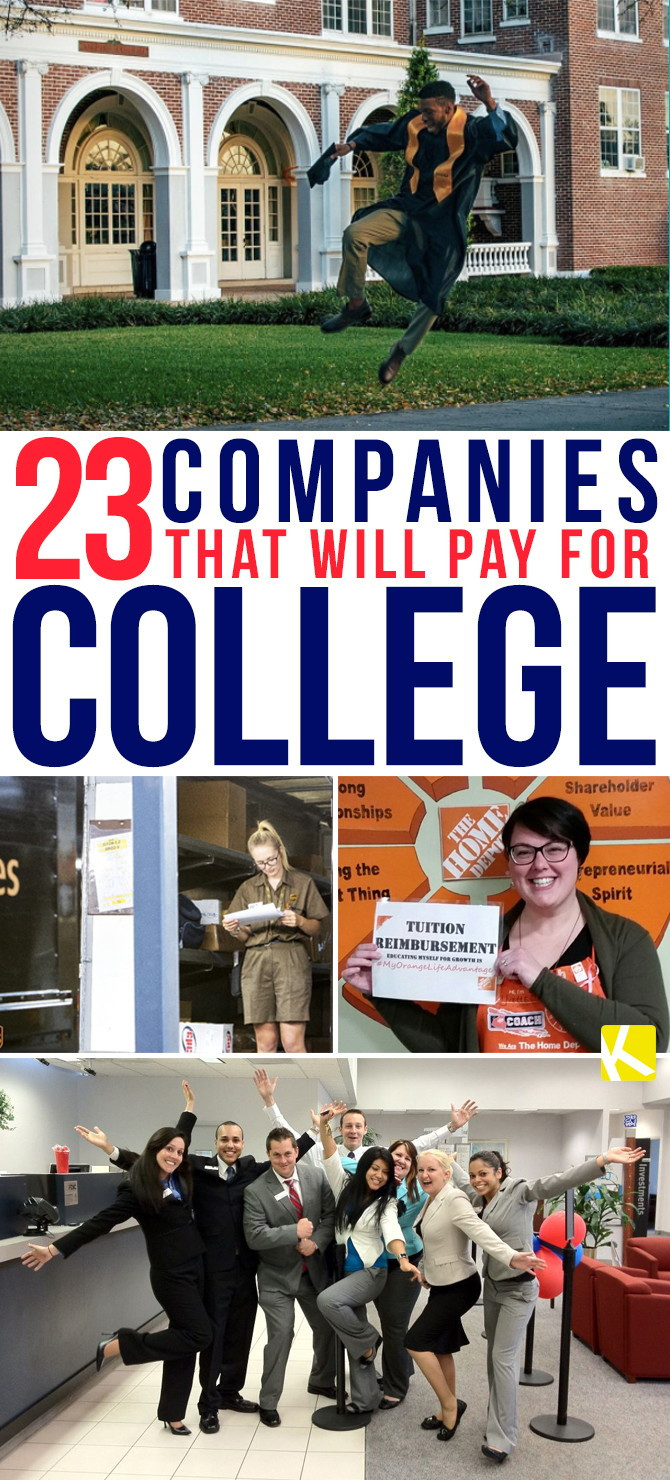 23 Companies That Will Pay for Your College Degree - The