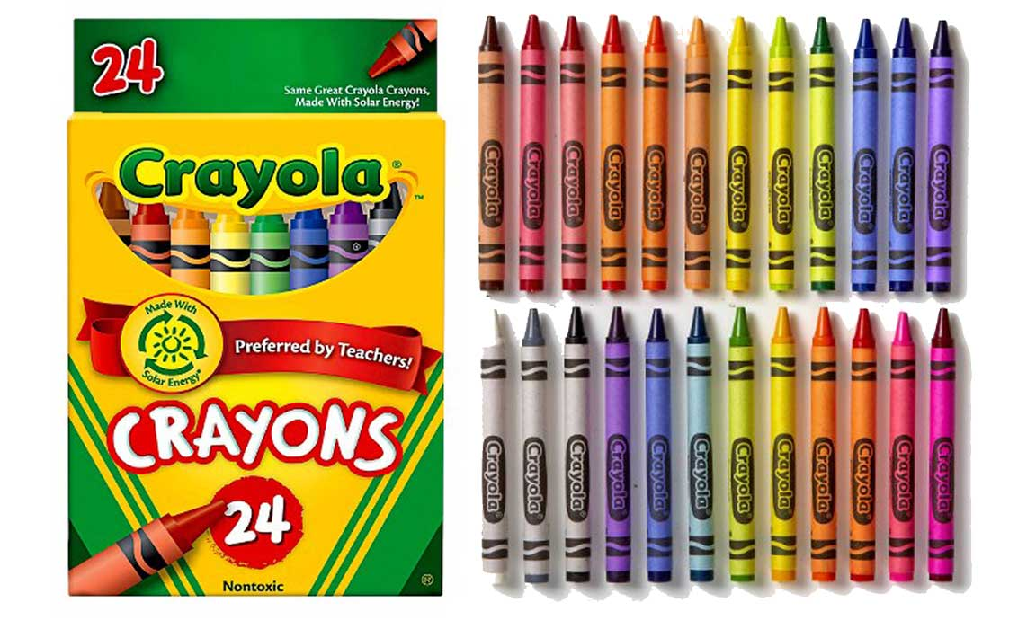 crayola 24 count crayons only 050 at walmart the krazy coupon lady