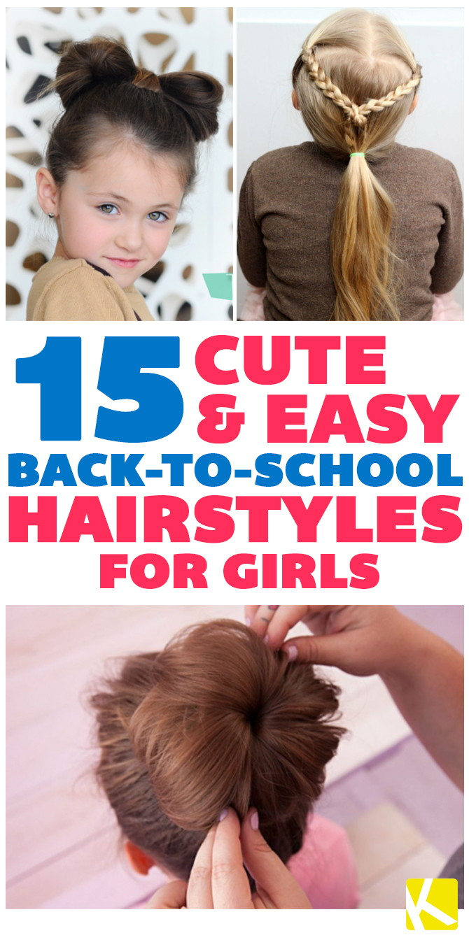 15 Cute & Easy Back-to-School Hairstyles for Girls - The Krazy ...