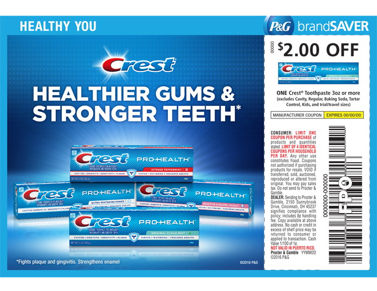 Procter gamble coupons crest procter and gamble industry analysis