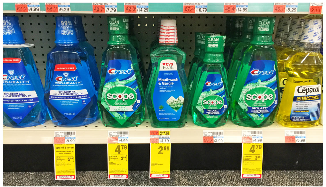 Scope Mouthwash Only 29¢ at CV...